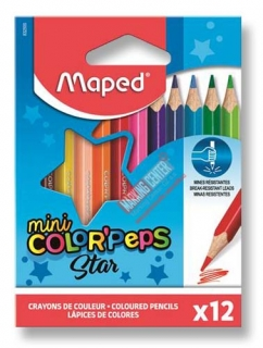 Pastelky Color'Peps Star mini, 12 barev